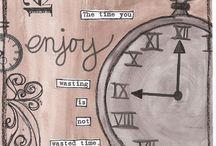 Скрапбукинг Часы