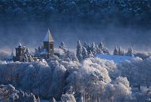 Winter at The Highland Club / The magical atmosphere of St. benedict's Abbey under the snow...