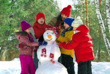Bonhomme de neige / Concours des plus beaux benhommes de neige