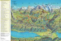 Švajčiarsko - Mapa