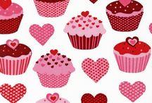 Látky valentínske / látky so srdieckami na objednanie