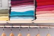 Organised Closets / Enjoy your clothes, shoes and purses even more with these organising tips.