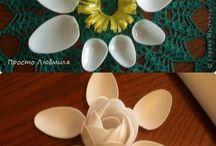 fleur avec cuillère plastique