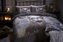 """""""OH DEER"""" / Jogo saco em algodão estampado reversível. Misturar e combinar com a roupa de cama existente para adicionar um toque contemporâneo ao seu quarto."""