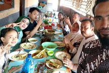 LIBURAN at karangsong with Family