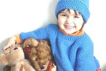 Minikler İçin Örgüler - Knitting and crochet for kids / Tığ ve şişle örülen bebek ve çocuk kıyafetleri, battaniyeler, projeler.