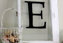 Anything Monograms And Numbers / It is amazing what creative things can be done with alphabet letters and numbers in home decor and DIY projects. Here is my curated collection of my favourite ideas! / by Time With Thea