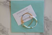 Ohsofine bracelets / Beautiful thin bracelets with gold and pearls