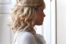 Wedding hair ideas  / Medium length wedding day hair ideas