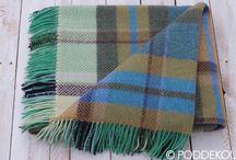 Tartanové deky / Kárované deky a prehozy