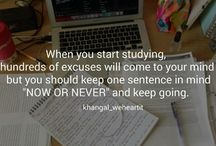 Study tips and quotes