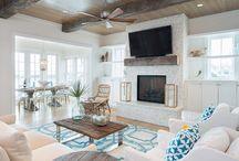 Coastal fireplace