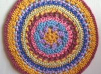 Mandala Wheels 6 / Crochet Mandala Wheels created for Yarndale 2014