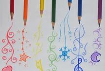 dessin crayons de de couleurs