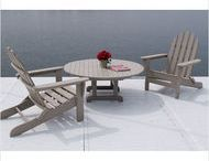 "Polywood / ""Poly-Wood, Inc. designs and manufactures timeless, classic, outdoor furniture. Relax in our durable and comfortable, all-weather plastic furniture – whether it's rain, snow, salt water, sun, or ice, POLYWOOD® performance furnishings are built to last – no hassles and no worries. And POLYWOOD® is green – made from a high percentage of post-consumer materials, our furniture transforms landfill waste into usable products."""