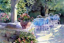 Любимые акварели... / Favorite watercolors / Живопись - Акварель / Painting - Watercolor