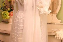 Boudoir 50s : Vintage Fashion / Negligee peignoir set