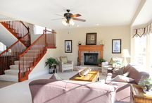 Our MO Home / Capturing several model home pictures that were from the same floor plan as our home in St. Louis area.