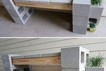 Landscape art / Yard bench