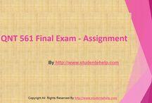 QNT 561 Final Exam Answers