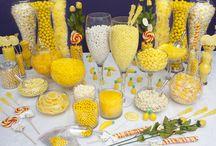 yellow,white,grey wedding ideas