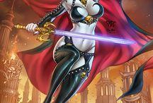 Lady Death / Héroine de comics auteur Steven Hughes