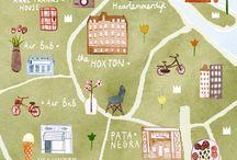 Landkarten Illustration