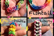 Rainbow loom bracelets / Past time