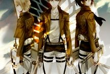 Eren, Mikasa y Armin