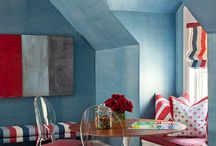 Red, White & Blue Rooms / A collection of rooms in patriotic colors that are so much more than cliche.