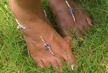 Sandal Harness / We give women feet pizzaz!  Foot jewelry uniquely hand crafted.  www.SandalHarness.com