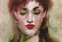 Acryl mit Spachtel. Olga Vinnitskaya.