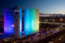 Light art installation around the world