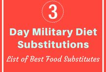 3 Day Military Diet / 3 Days Military Diet Meal Plans which will help you Reduce Weight Faster. Also an extensive list of Military Diet Substitutions for those who are allergic to certain products/ or looking for Meal Replacements due to other reasons. The Military Diet Shopping List covers all the essentials that you will be needing to start with this meal plan.