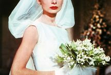 Iconic wedding dresses and headpieces