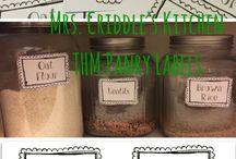 Organizing a Gluten Free/THM pantry