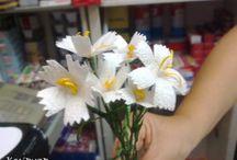 ipek koza çiçek yapımı