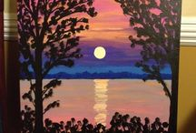 Canvas / Canvas classes offered as well - please go to our facebook page to view actual paintings offered.