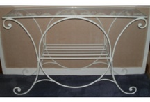 Wrought iron bases for mosaic tables / I am always on the look out for interesting wrought iron structures for my garden tables.