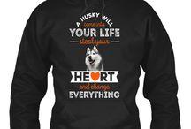 Siberian Husky T shirts