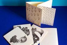 Papeterie - Cartes / Cartes A6 2 volets - impression en relief - papier 300gr - fabriqué à Paris