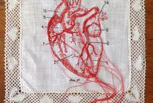 Linha, bordado, tricote.