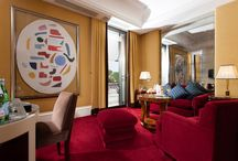 Rooms & Suites / The Hotel Lord Byron proudly reveals the individual drama of each of our 32 rooms and suites. Unique design is reflected through a palette of jewel tones and extraordinary attention to period details. Floor length curtains frame a collection of mahogany and rosewood furniture, imposing mirrors, vintage marble baths and striking fabrics imaginatively imbue individual rooms with an authentic 1930's Art-Déco ambience / by Hotel Lord Byron Roma