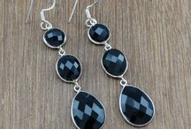 Cut-Gemstone Silver Earrings / Cut-Stone Earrings with Semi-Precious Gemstones and beautifully crafted earrings.