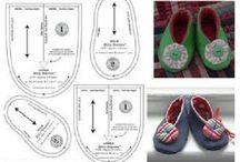 Moldes para sapatos de tecido para baby