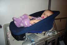 Airline Bassinets / Flying with kids and need help? Wondering what an airline bassinet looks like?
