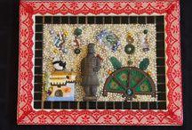 Mosaic Foreign Favorites / Mixed media mosaics