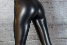 Nice shiny skin tight latex pants legs and ass!