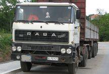 T RABA TRUCKS / Trucks of the brand RABA.