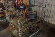 Industriële Revolutie / Vintage meubels, Industrieel, IJzer, koper, roest etc....